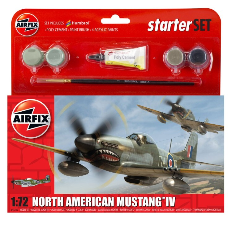 Airfix North American Mustang IV Starter Set 1:72 A55107
