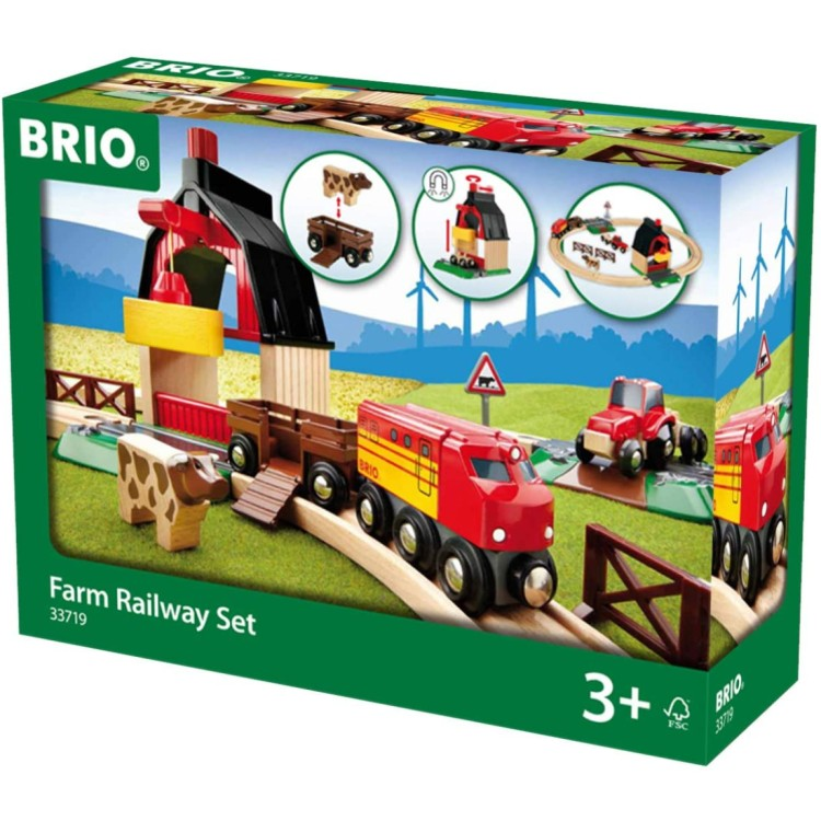 Brio World Farm Railway Set - 33719