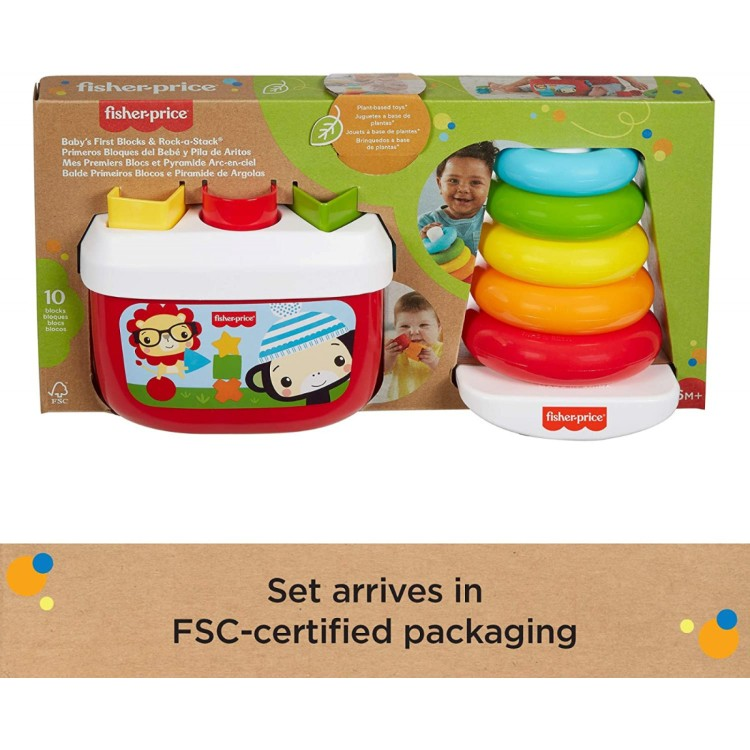 Fisher-Price - Eco Line - Baby's First Blocks & Rocker Stack