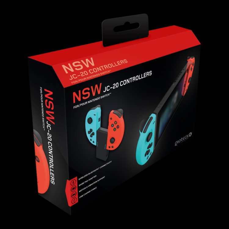 Gioteck JC-20 Wireless Bluetooth Nintendo Switch Controllers
