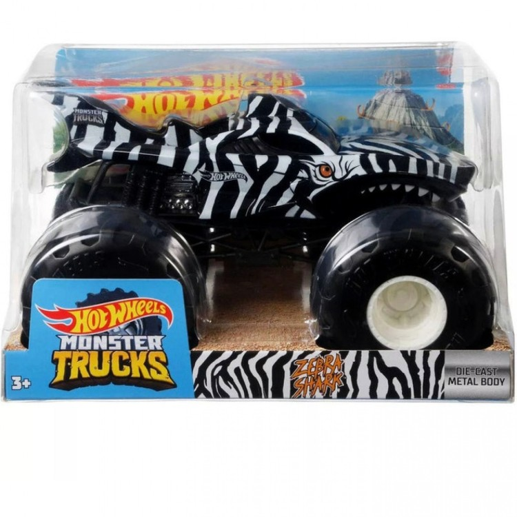 Hot Wheels Monster Truck Zebra Shark 1:24 GWL07