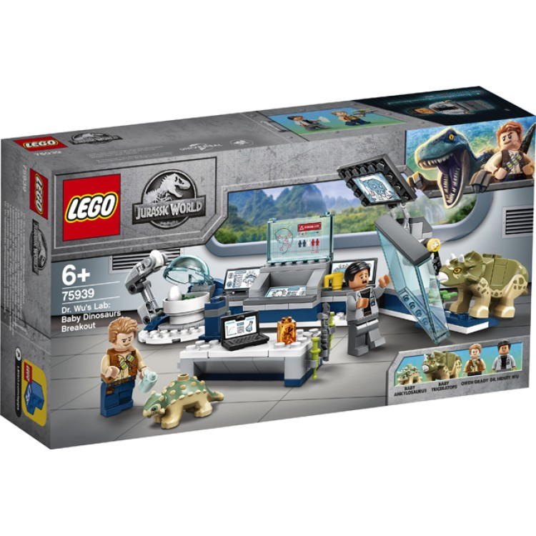 LEGO Jurassic World Dr. Wu's Lab: Baby Dinosaurs Breakout 75939
