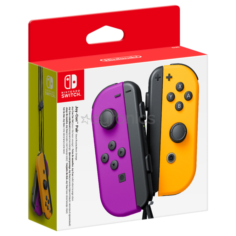 Nintendo Switch Joy-Con Controller Pair - Neon Purple/Orange