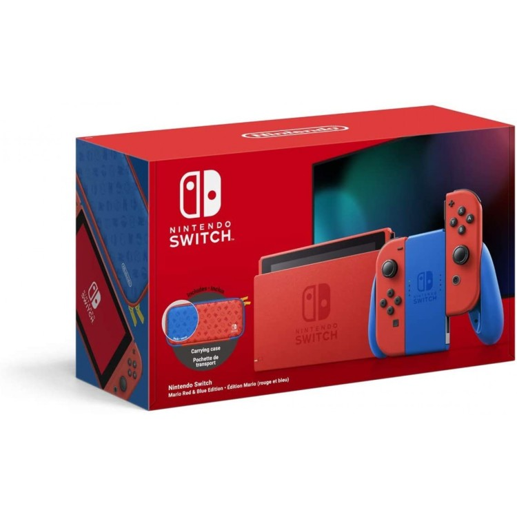 Nintendo Switch Mario Red & Blue Limited Edition 1.1 Console