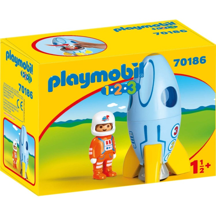 Playmobil 1.2.3 Astronaut with Rocket - 70186