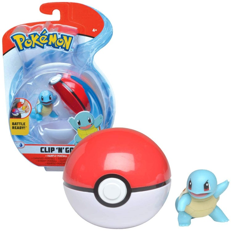 Pokemon Clip'N'Go Series 4 Squirtle & Poke Ball