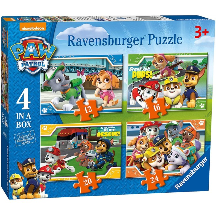 Ravensburger Paw Patrol - 4 in a Box Jigsaw Puzzles
