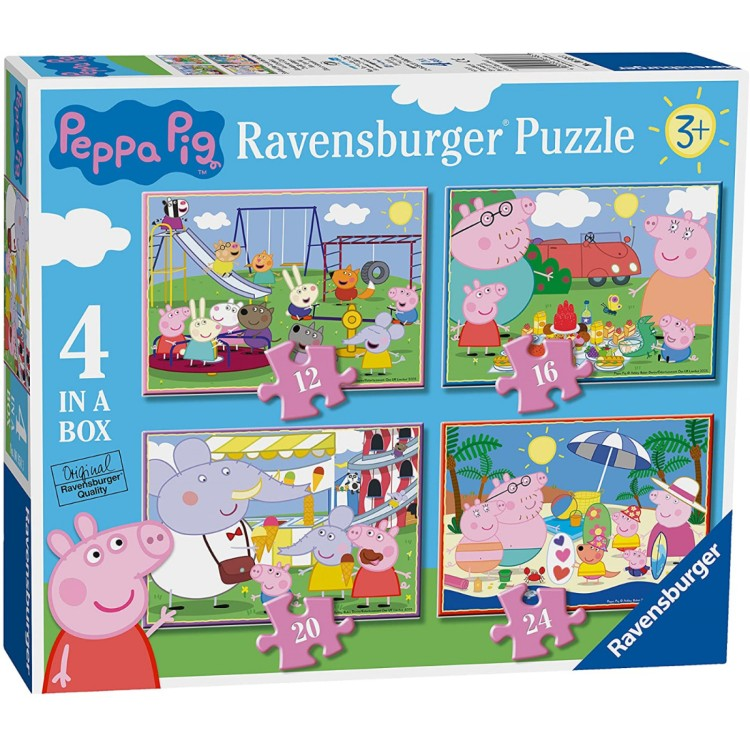 Ravensburger Peppa Pig - 4 in a Box Jigsaw Puzzles