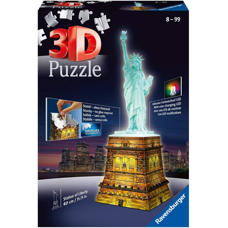 Ravensburger Statue of Liberty Night Edition 120 Piece 3D Jigsaw
