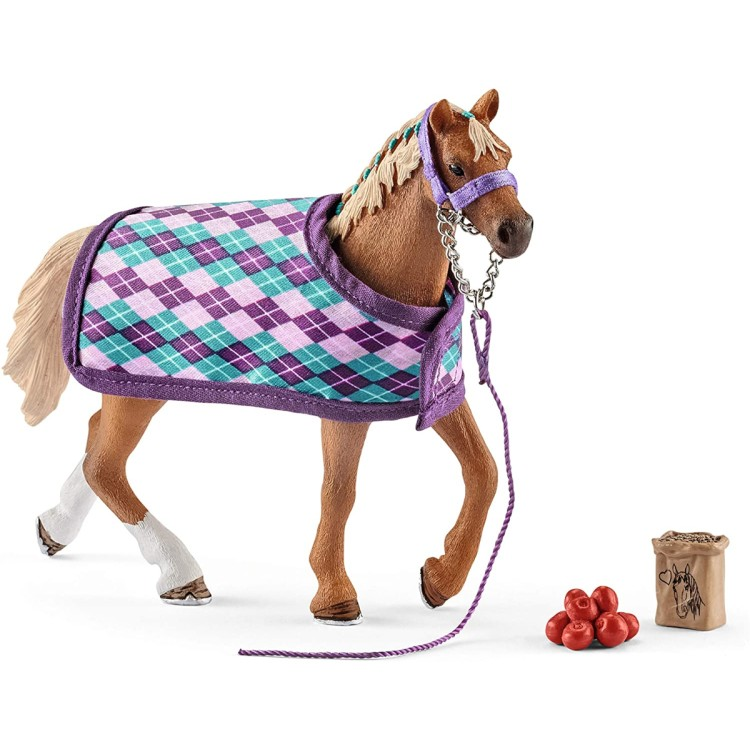 Schleich Horse Club - English Thoroughbred with Blanket 42360